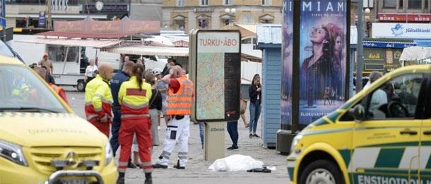 Plusieurs personnes poignardées en Finlande , un suspect arrêté