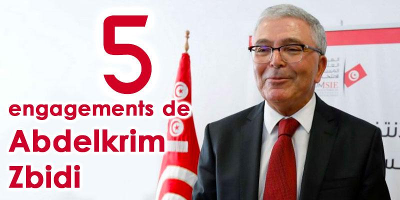 Les 5 engagements de Abdelkrim Zbidi