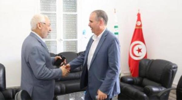 Rached Ghannouchi rencontre Noureddine Tabboubi