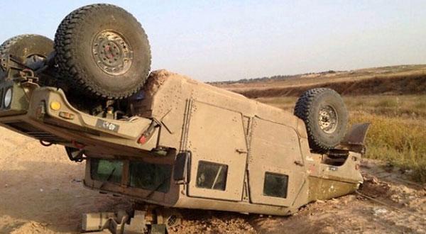 اصابة 3 عسكريين في انقلاب سيارة عسكرية بتطاوين