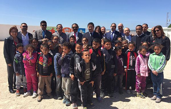 Cérémonie d'inauguration du '' Projet de Réhabilitation de l'Ecole Primaire 'Ain Ben Chibl' de Teboursouk ''