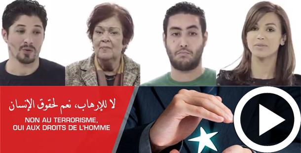En Vidéo : Non au terrorisme, Oui aux droits de l'homme, la société civile explique