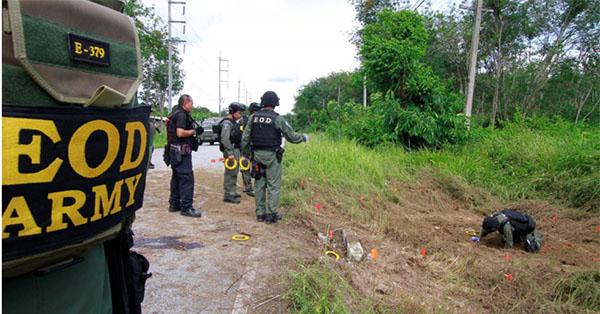 تايلاندا: مقتل جندي وإصابة 20 شخصا في انفجار قنابل