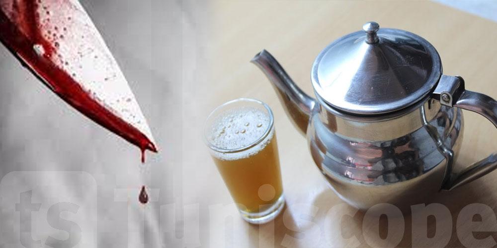 حبس عامل قطع إصبعين من يد زميله بسبب ''رشفة شاي''