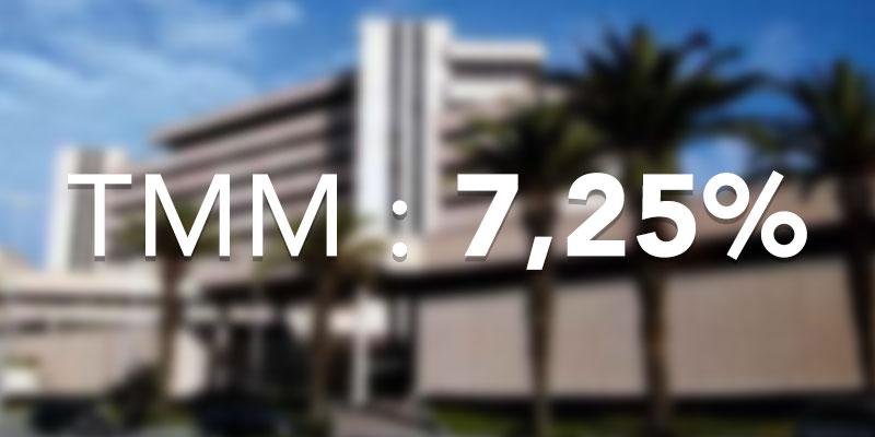 Le TMM passe à 7,25 en Juillet 2018