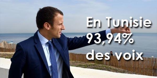 En Tunisie, Macron obtient 93,94% des voix