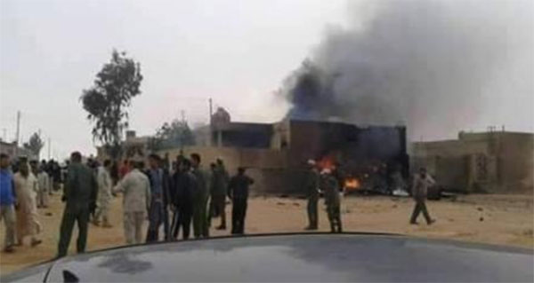 سقوط طائرة عسكرية بطبرق ومصرع قائدها و3 آخرين