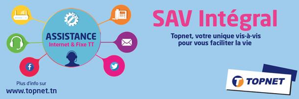 Topnet lance le « SAV Intégral » :  Un nouveau service d'assistance client pour Internet et fixe TT en guichet unique