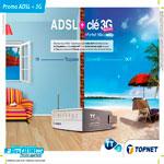 Topnet lance une promo sur l'ADSL avec une Clé 3G gratuite