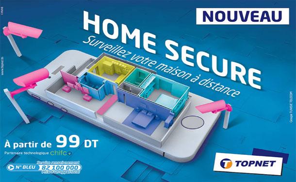 Topnet lance  ''Home Secure'', sa première solution d'objets connectés