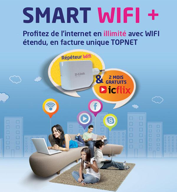 TOPNET lance le SMART WIFI + : L'internet en illimité avec du WIFI étendu