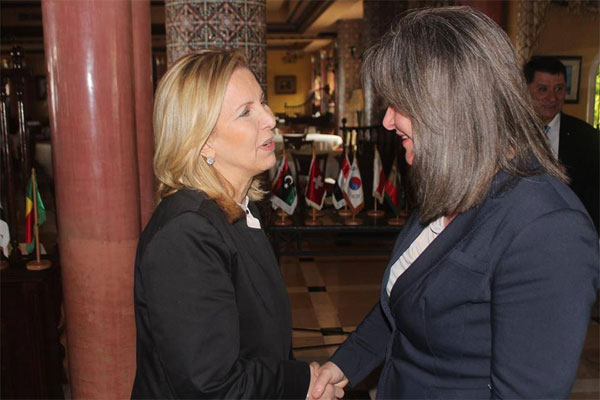 سلمى اللّومي تستقبل وزيرة السياحة والاثار الفلسطينية