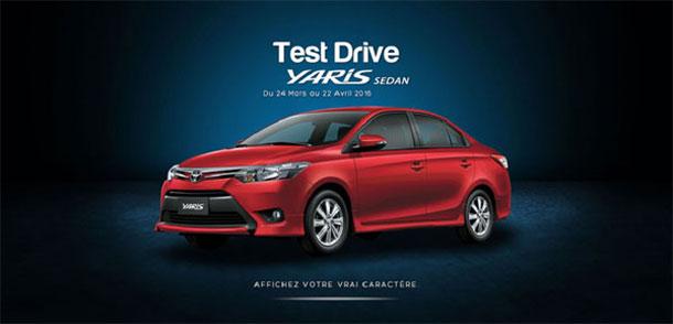 BSB Toyota propose de prendre le volant de la Yaris Sedan