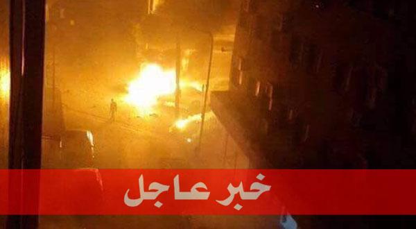 انفجار ضخم قرب السفارة الايطالية وسط طرابلس