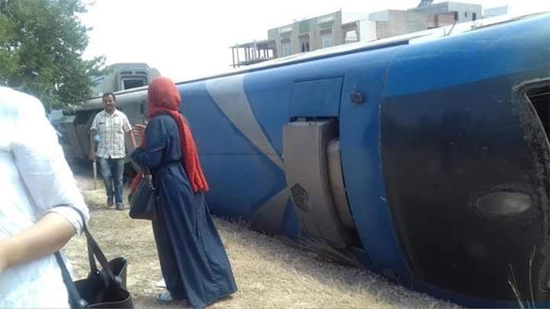 سوسة: إنقلاب عربة قطار وتسجيل إصابات
