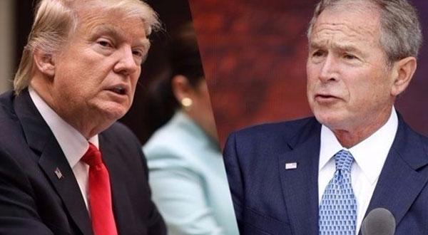 بوش يحذر ترامب: أمريكا تدخل عهداً جديداً من سياسة العزلة