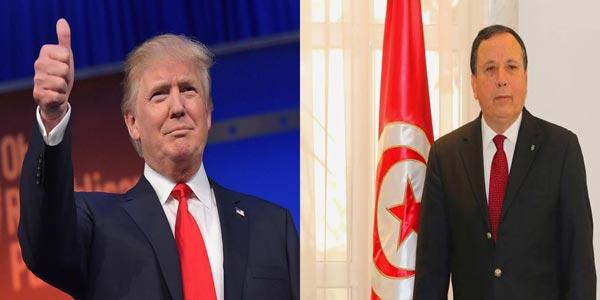 Donald Trump considère la Tunisie comme l'un des plus importants pays dans la région selon Khemaies Jhinaoui
