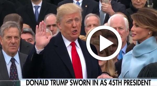 فيديو ..هكذا أدى ترامب اليمين الدستورية