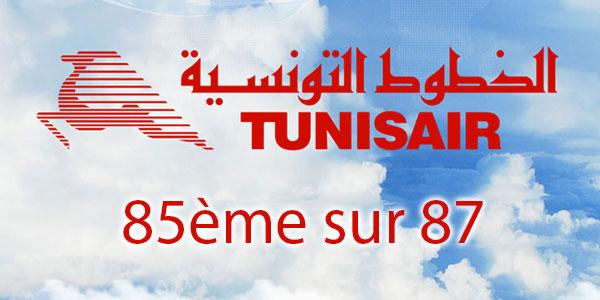 Tunisair classée au Top 3 des Pires compagnies aériennes du monde