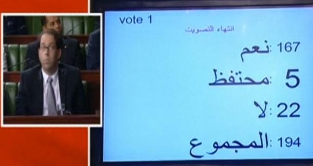 مجلس النواب يمنح الثقة لحكومة الوحدة الوطنية بـ 167 صوتا