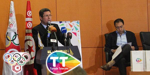 En vidéos : Le Comité olympique, la fédération d'Athlétisme et Tunisie Télécom main dans la main
