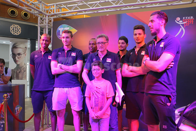 Tunisie Telecom accueille l'équipe nationale de Volleyball