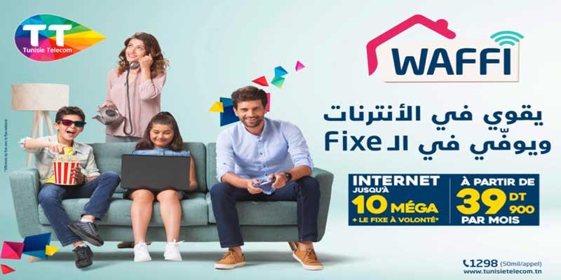 WAFFI : L'offre internet résidentielle de Tunisie  Telecom
