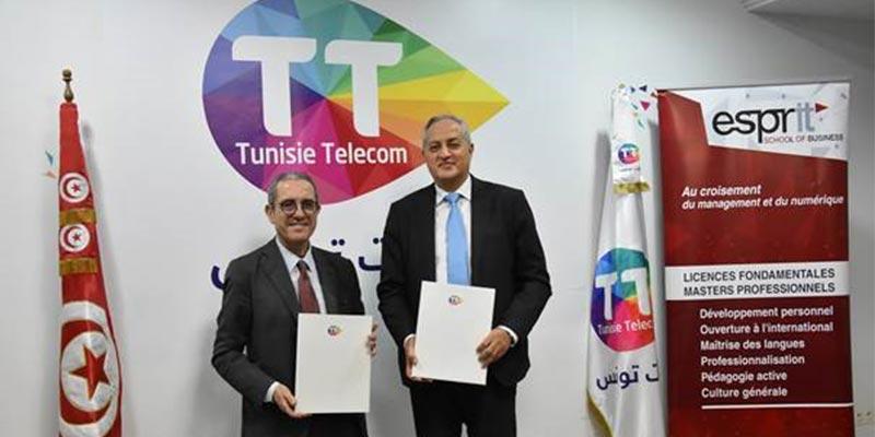 Tunisie Telecom et Esprit School of Business :Un partenariat solide pour l'apprentissage et  l'innovation