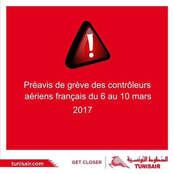 Aéroports français : TUNISAIR annonce une lègère perturbation au niveau de la programmation de ses vols