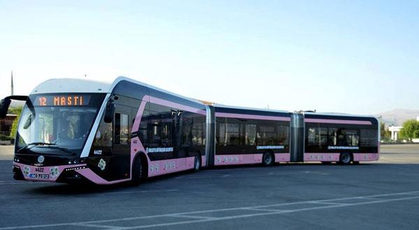 حافلات وردية خاصة بالنساء في تركيا