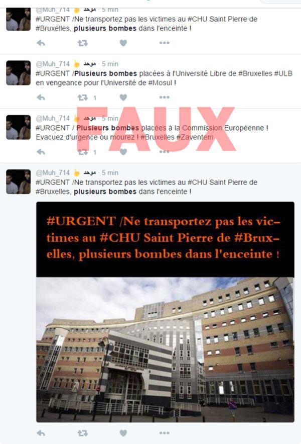 Bruxelles : des comptes djihadistes diffusent de fausses informations pour ajouter à la panique
