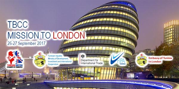 Mission d'affaires de la Chambre de Commerce Tuniso-Britannique les 26 et 27 Septembre