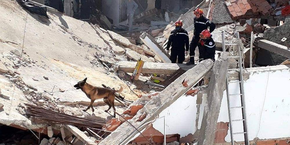 إنفجار قارورة غاز بحي سكني في العاصمة، صور من عين المكان