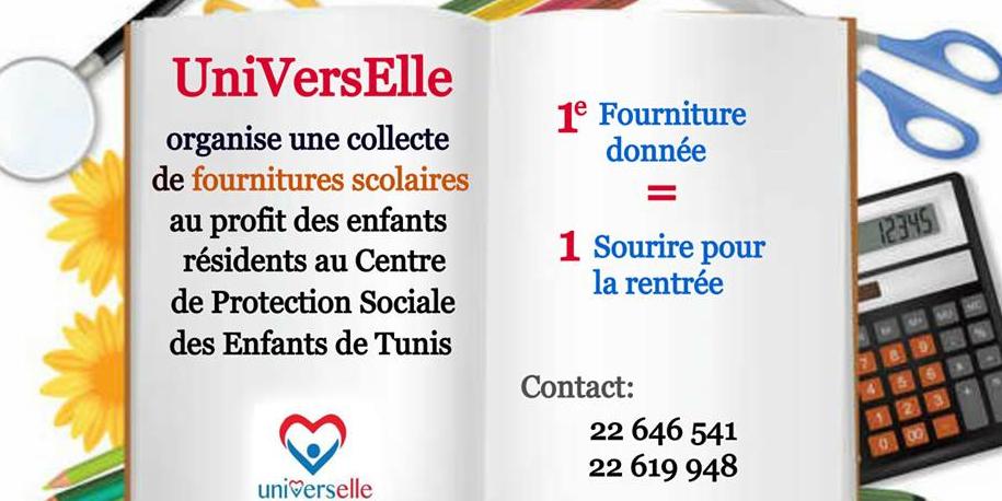 Universelle organise une collecte pour la fourniture scolaire des enfants du centre de protection sociale
