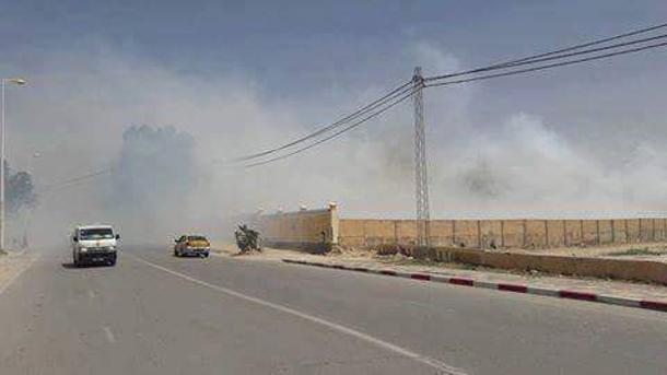 Incendie à la société de Cellulose et de Papier Alfa à Kasserine
