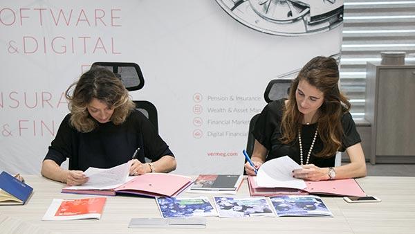 L'université dauphine Tunis  Et l'éditeur software et digital VERMEG  Signent un partenariat de parrainage