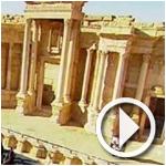 فيديو:الأوركسترا الروسي يعزف نشيد النصر في تدمر بعد تحريرها من داعش