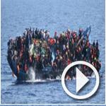 فيديو: البحرية الإيطالية تلتقط صورًا مأساوية لانقلاب زورق يقل مهاجرين في البحر المتوسط