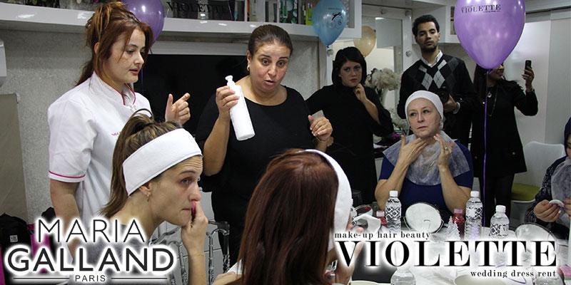 En vidéos : Atelier «Mosaïque de beauté» chez Violette avec les produits Maria Galland
