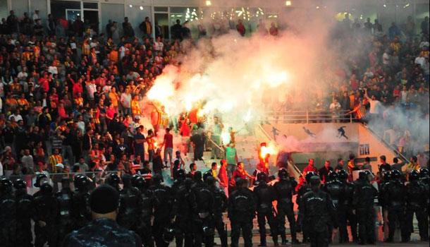 En photos : Actes de vandalisme au stade de Radès et arrestation de 91 personnes