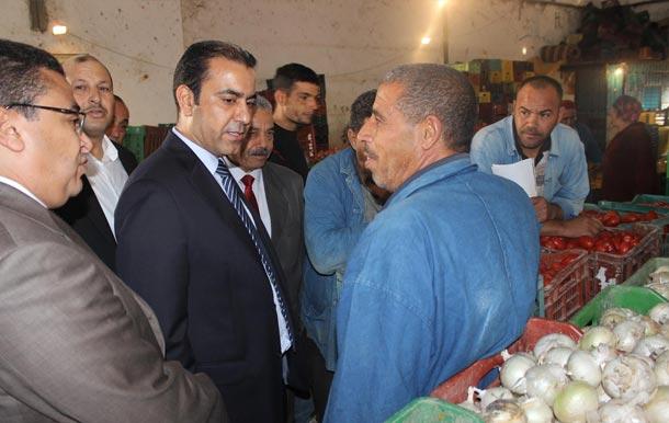 En photos : Le secrétaire d'Etat chargé du Commence effectue une visite à Jendouba