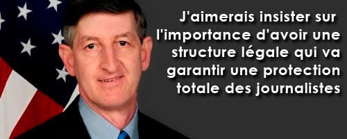 Jacob Walles insiste sur l'importance d'une structure légale qui garantit la protection totale des journalistes