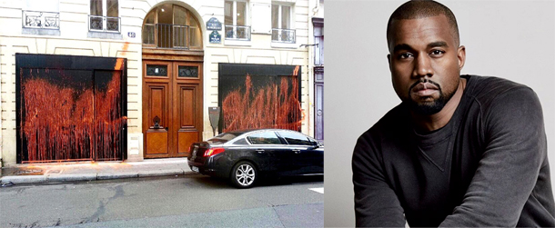 La réaction de Kanye West après la découverte de tags anti-consommation sur la devanture de sa boutique