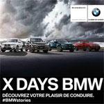 BMW  X DAYS : Des journées portes ouvertes sous l'ombrelle des modèles X de la gamme BMW du 03 au 09 Novembre 2014