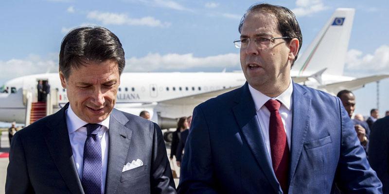 En vidéo : Youssef Chahed reçoit le chef du gouvernement italien