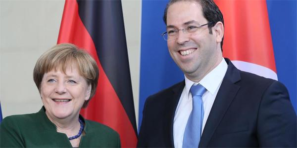 Angela Merkel en visite officielle en Tunisie