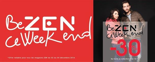 Les magasins ZEN proposent  30% de réduction  jusqu'à demain...