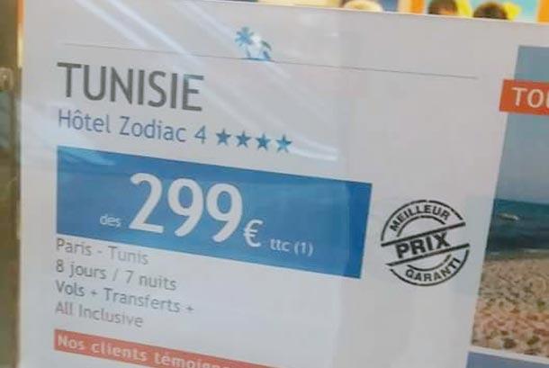 Un hôtel 4 étoiles à 299€ la semaine pour les touristes français, mais pour les Tunisiens…