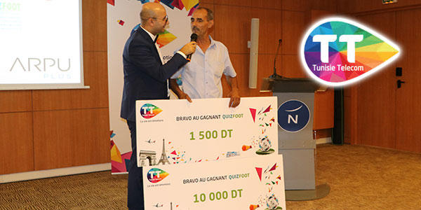 Cérémonie FOOT QUIZ de Tunisie Telecom
