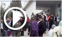 En vidéo : Rassemblement après l'attaque du bus militaire au Kef